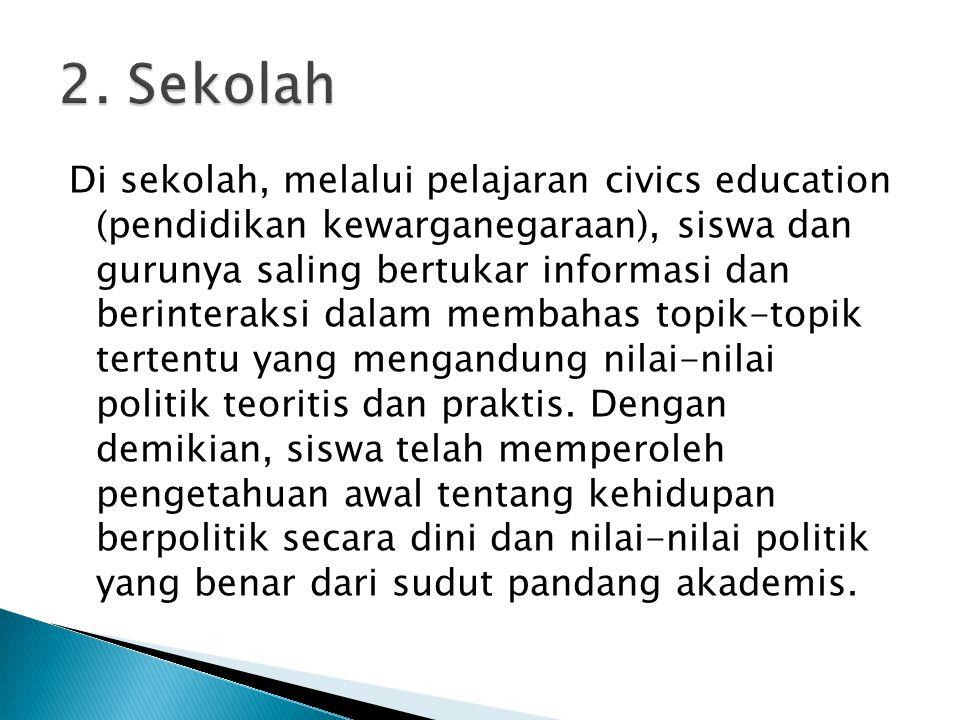 2. Sekolah