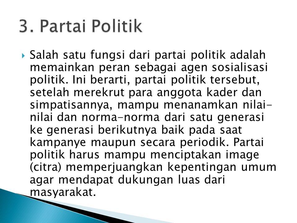 3. Partai Politik