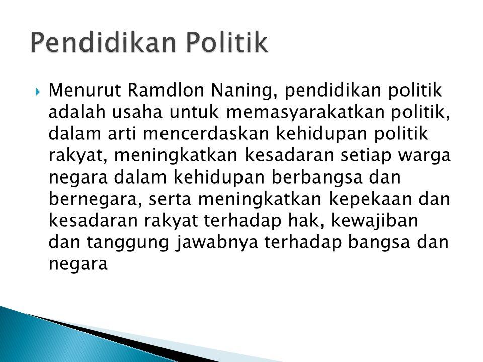 Pendidikan Politik