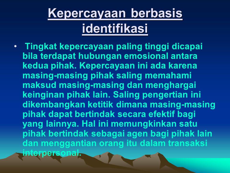 Kepercayaan berbasis identifikasi