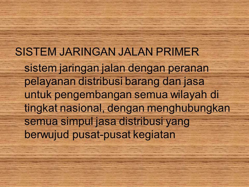 SISTEM JARINGAN JALAN PRIMER