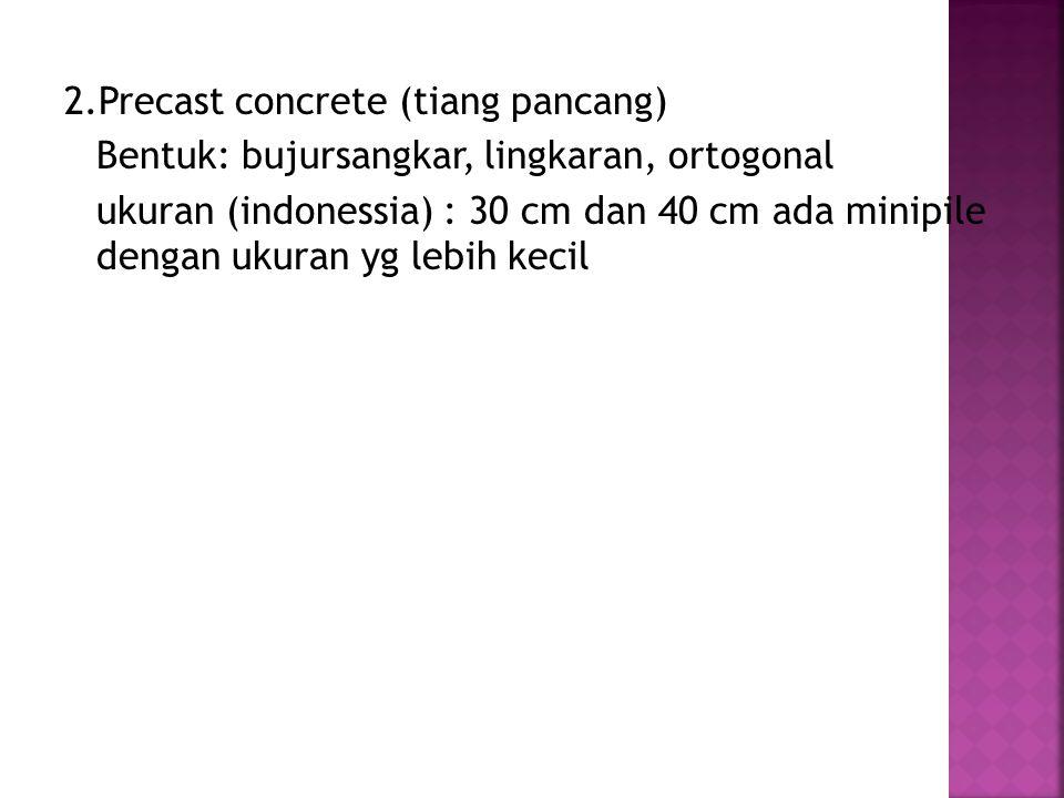 2.Precast concrete (tiang pancang)