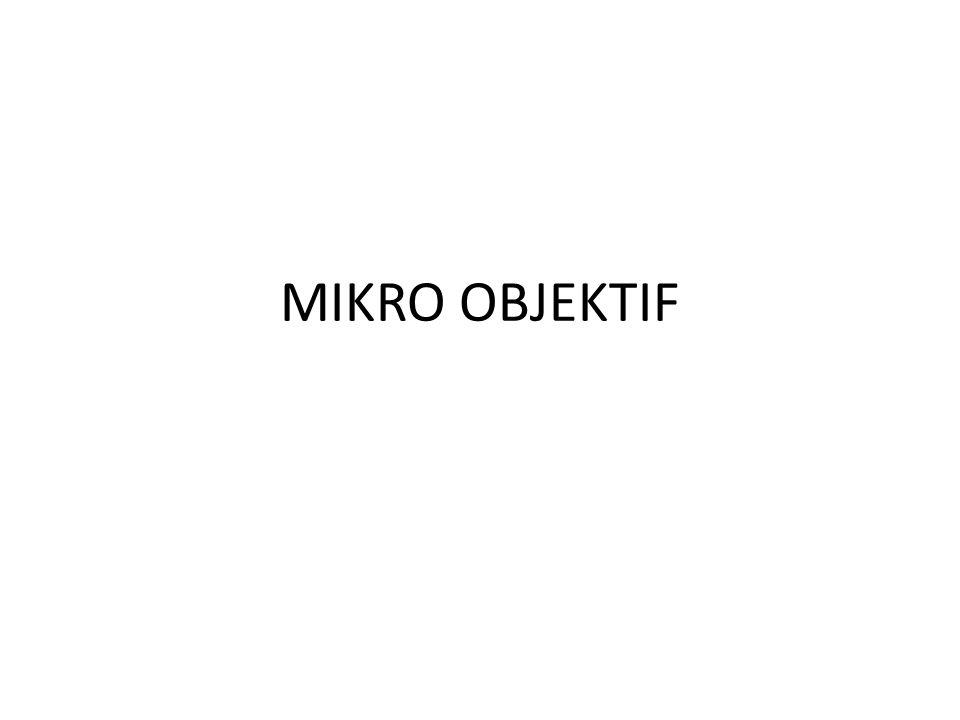 MIKRO OBJEKTIF