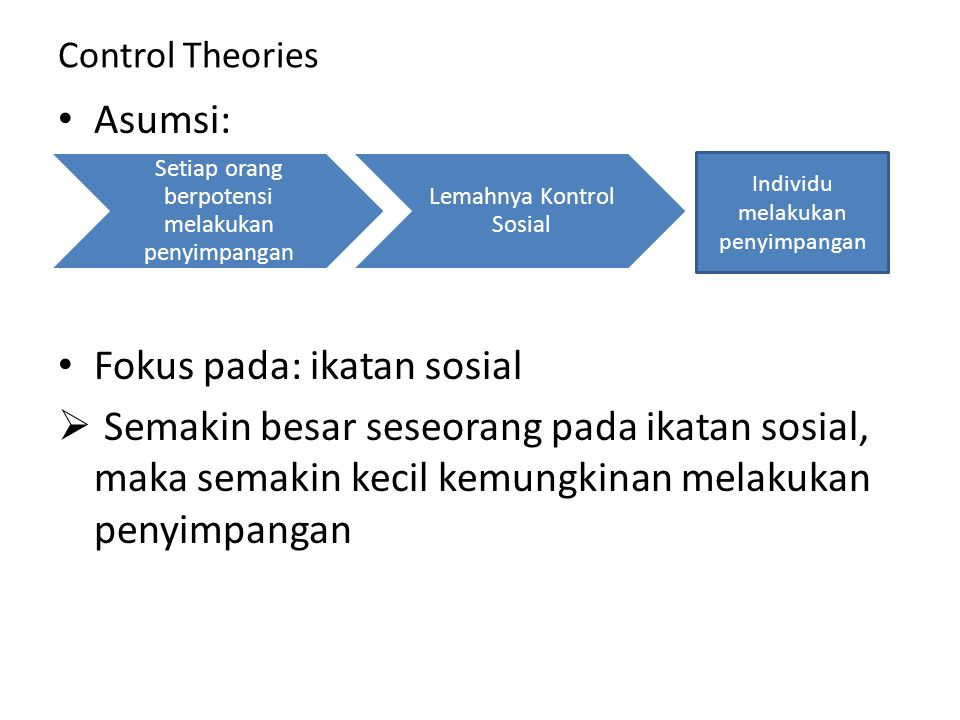 Fokus pada: ikatan sosial