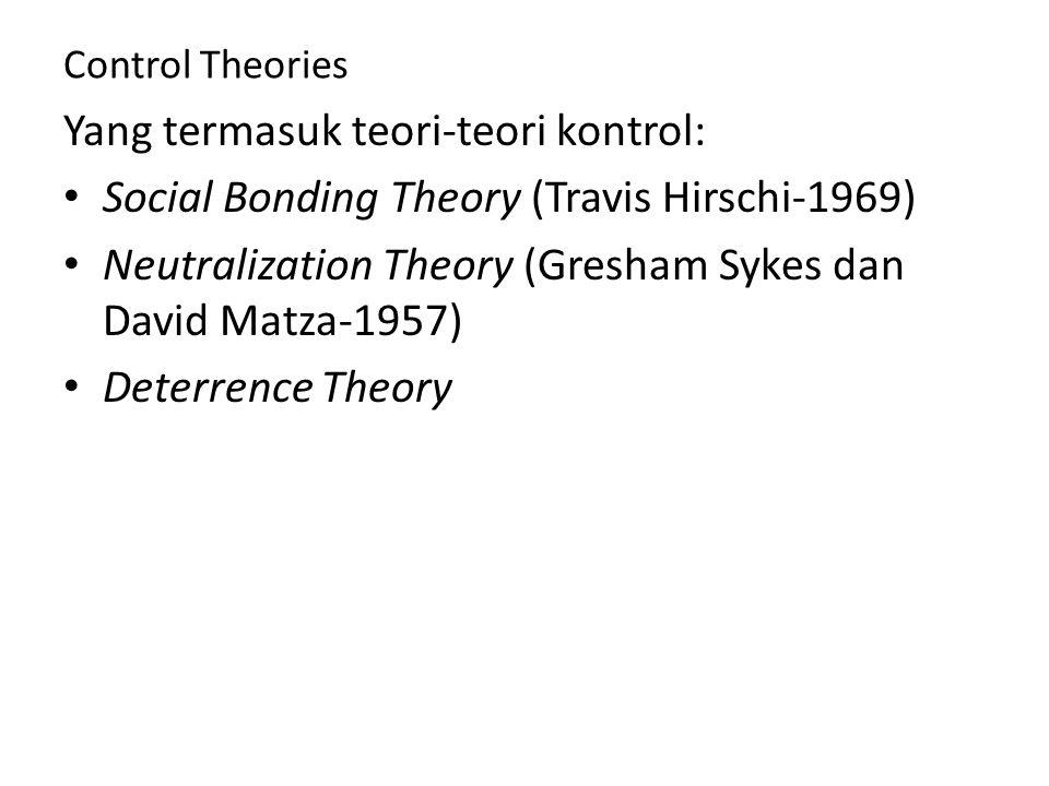 Yang termasuk teori-teori kontrol: