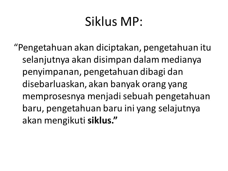 Siklus MP: