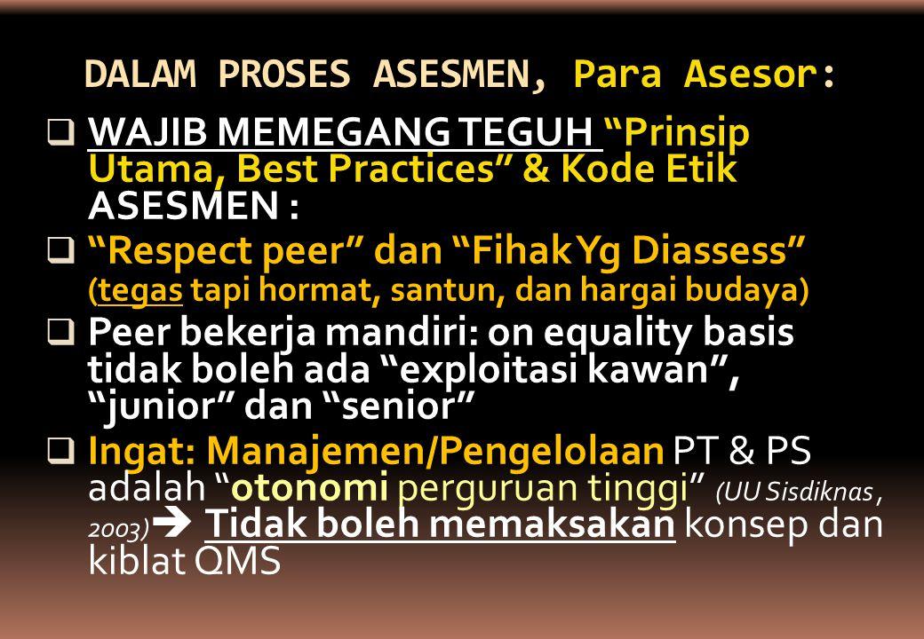 DALAM PROSES ASESMEN, Para Asesor: