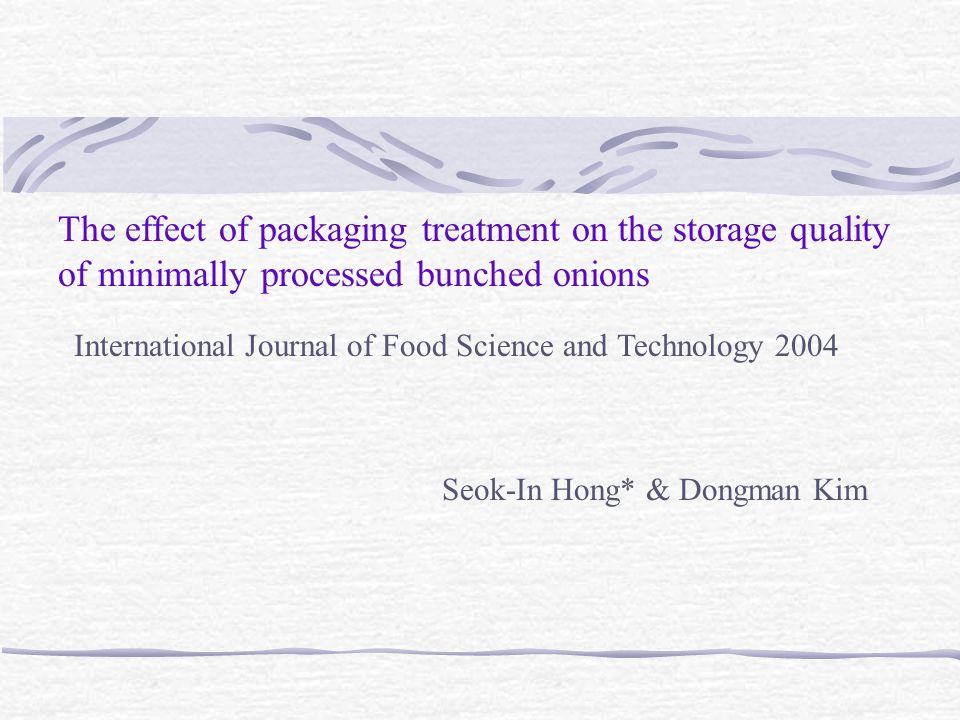 The effect of packaging treatment on the storage quality