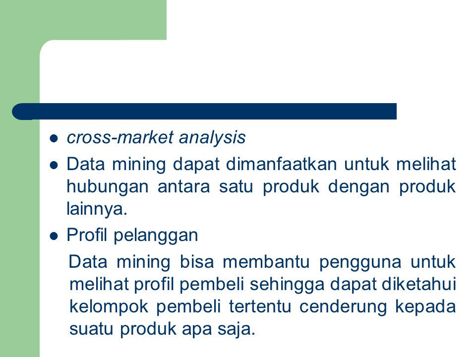 cross-market analysis
