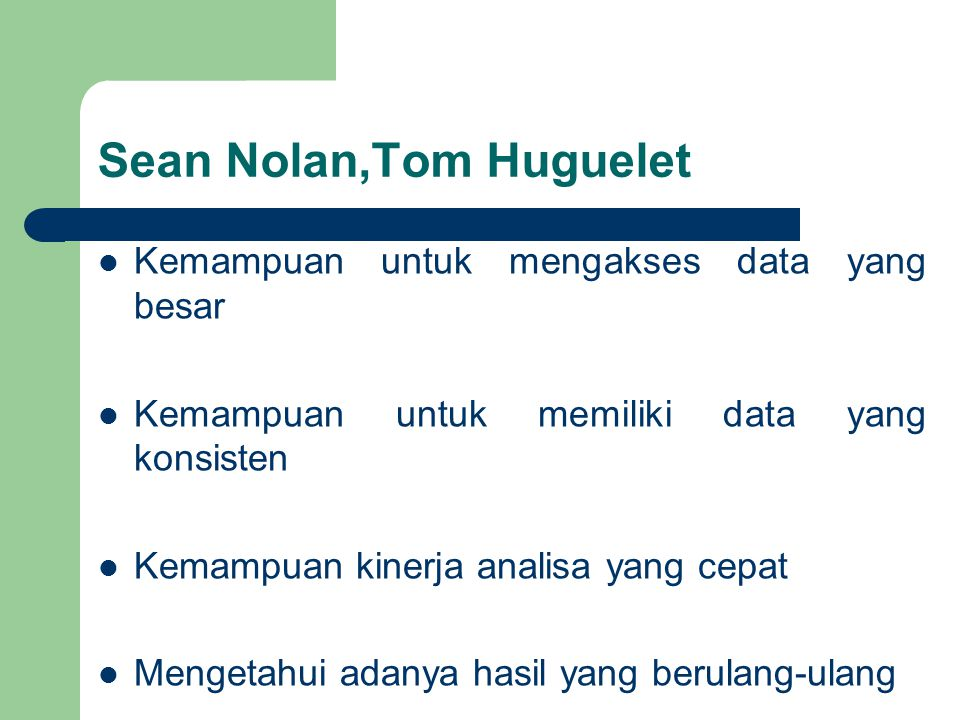 Sean Nolan,Tom Huguelet
