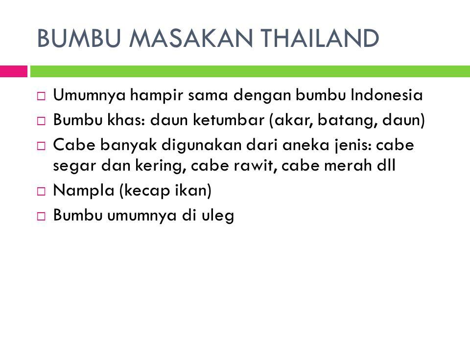 BUMBU MASAKAN THAILAND