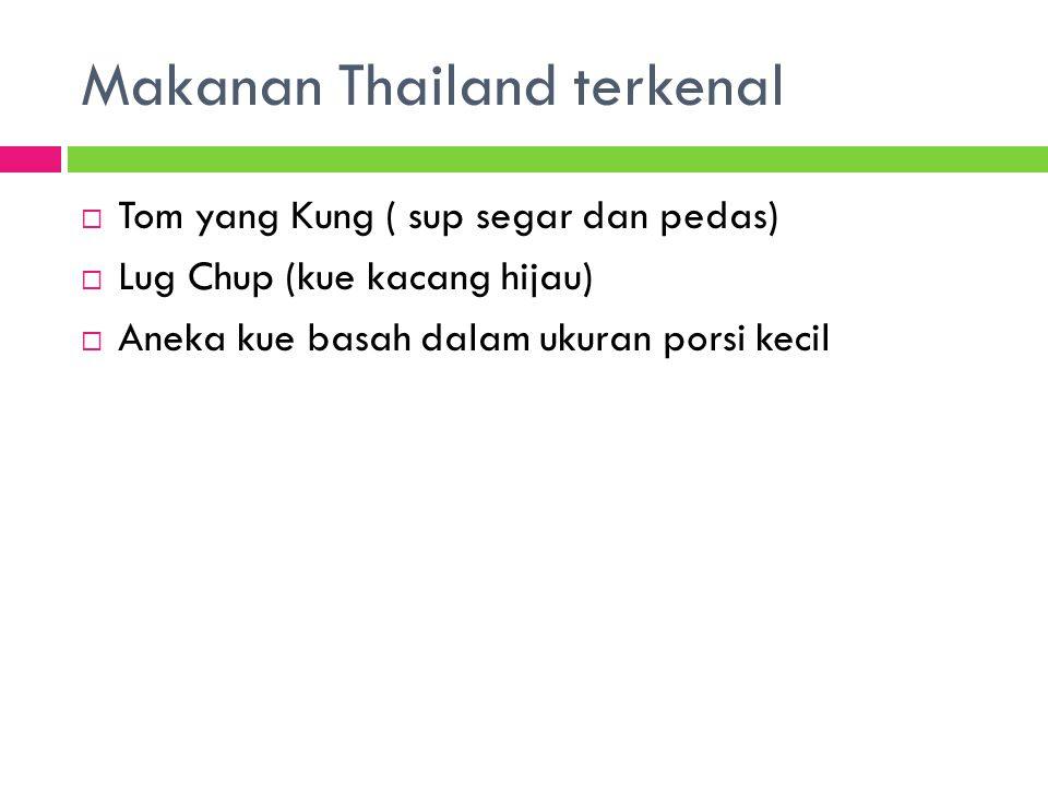 Makanan Thailand terkenal