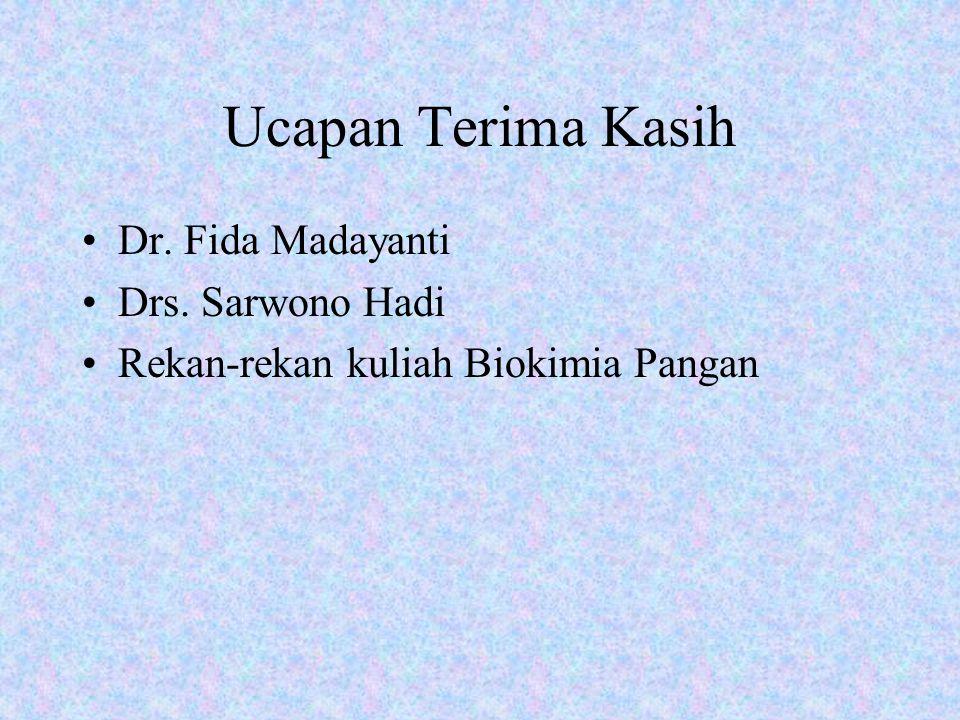 Ucapan Terima Kasih Dr. Fida Madayanti Drs. Sarwono Hadi