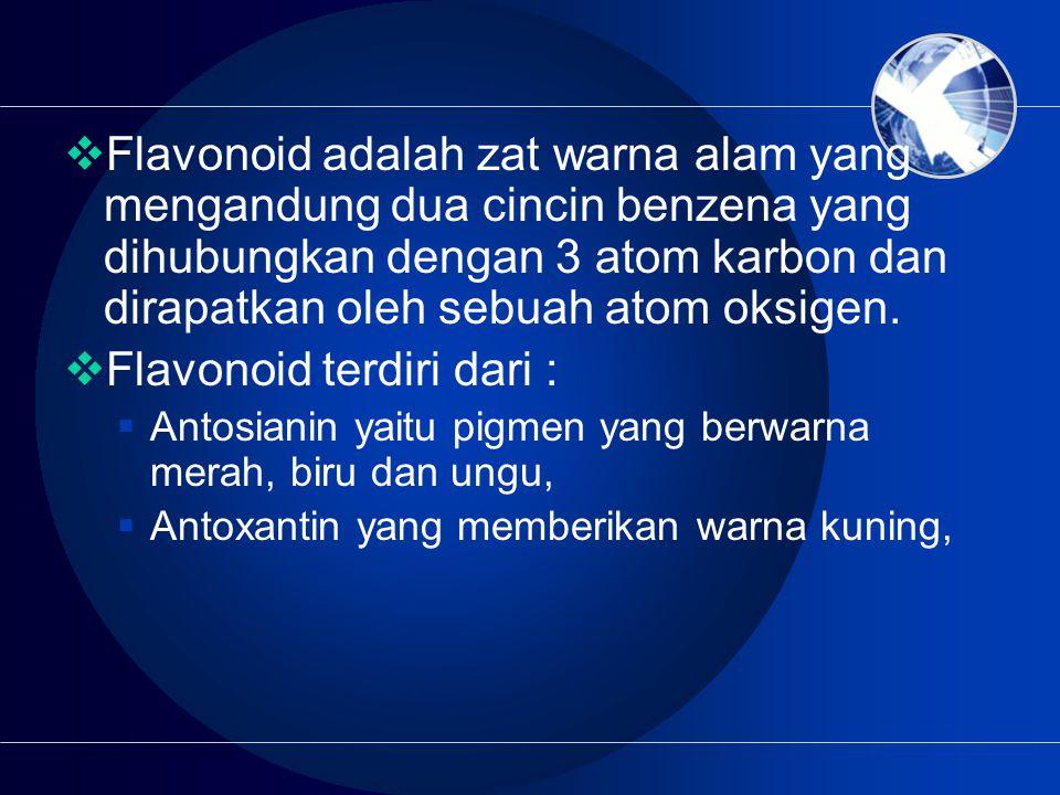 Flavonoid terdiri dari :