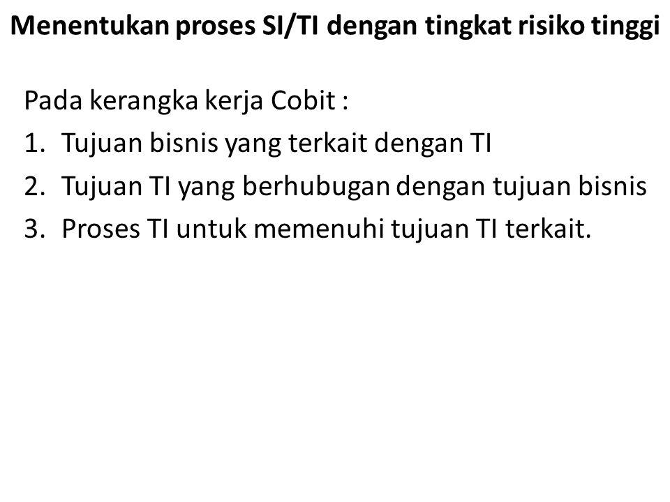 Menentukan proses SI/TI dengan tingkat risiko tinggi