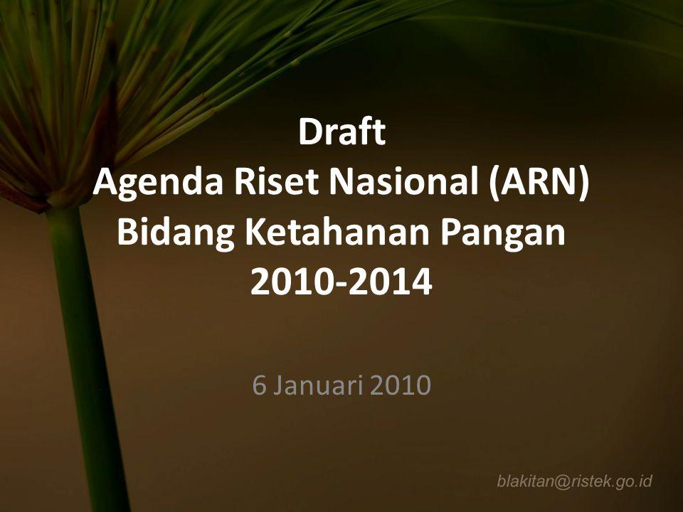 Draft Agenda Riset Nasional (ARN) Bidang Ketahanan Pangan 2010-2014