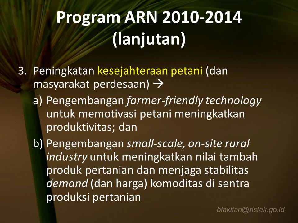 Program ARN 2010-2014 (lanjutan)