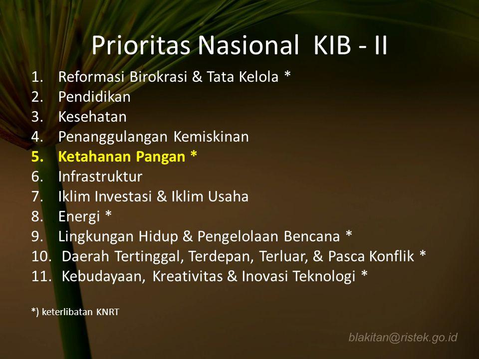 Prioritas Nasional KIB - II