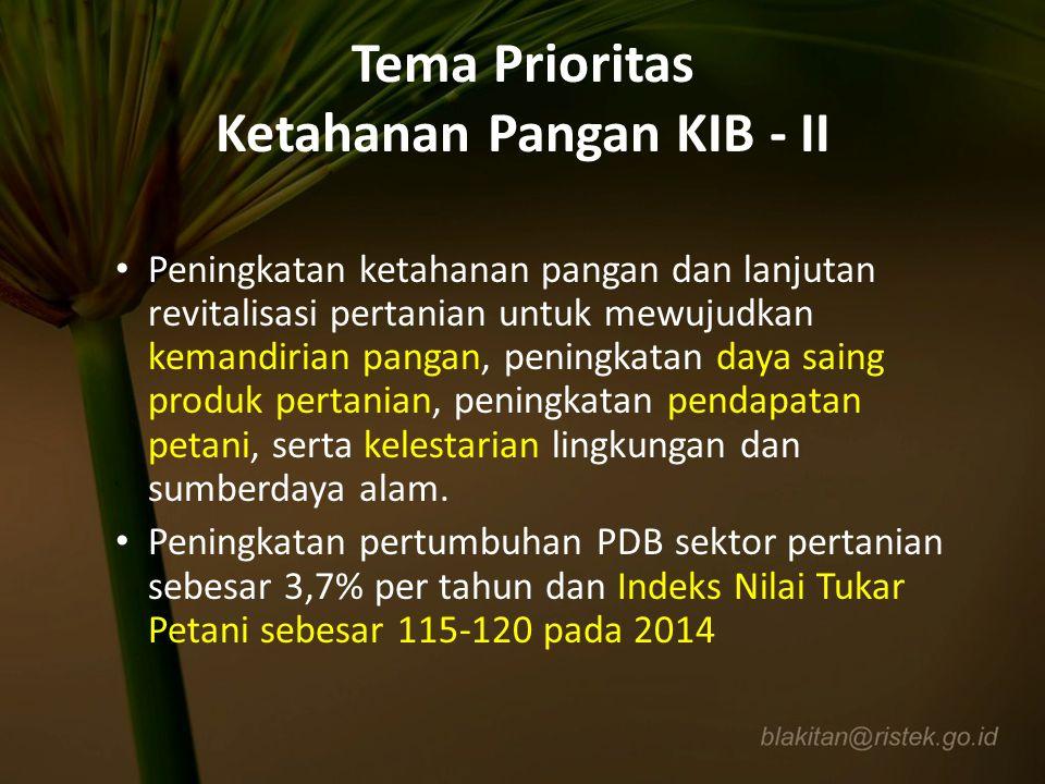 Tema Prioritas Ketahanan Pangan KIB - II