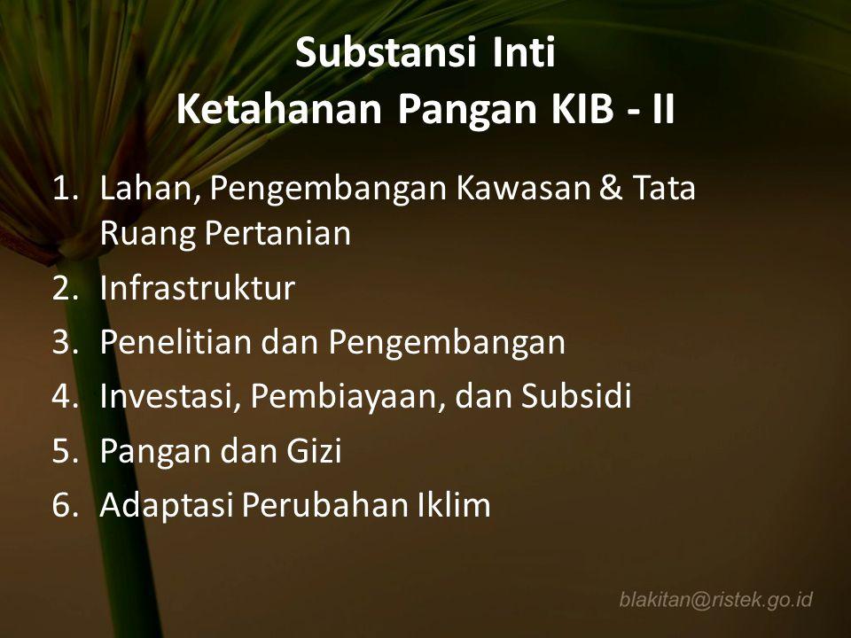 Substansi Inti Ketahanan Pangan KIB - II