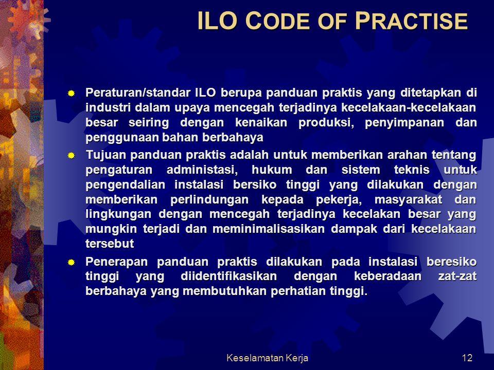 ILO CODE OF PRACTISE