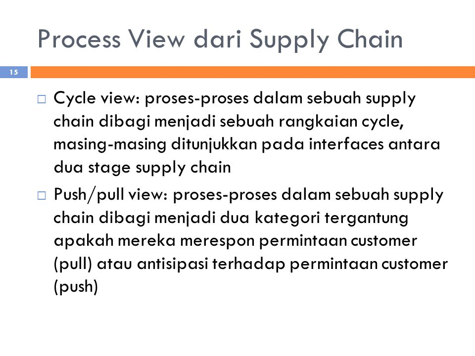 Process View dari Supply Chain