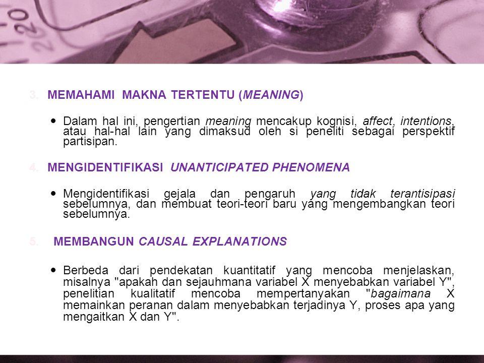 MEMAHAMI MAKNA TERTENTU (MEANING)