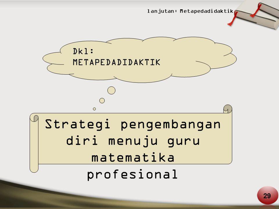 Strategi pengembangan diri menuju guru matematika profesional