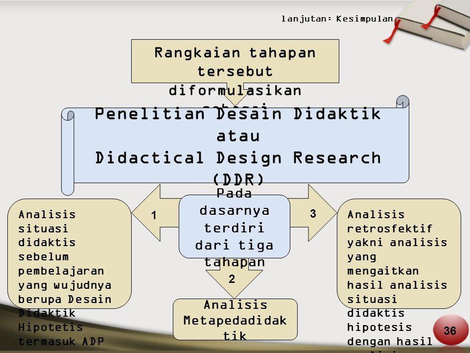 Penelitian Desain Didaktik atau Didactical Design Research (DDR)