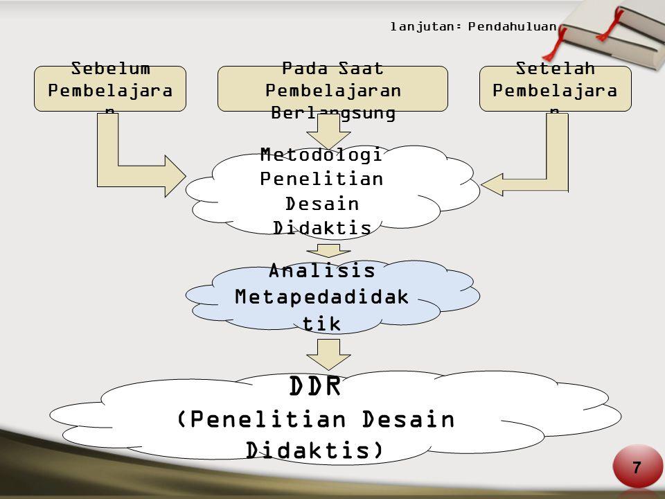 DDR (Penelitian Desain Didaktis) Analisis Metapedadidaktik