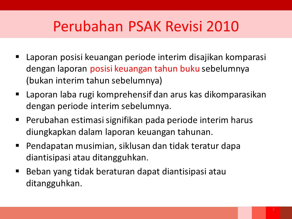 Perubahan PSAK Revisi 2010