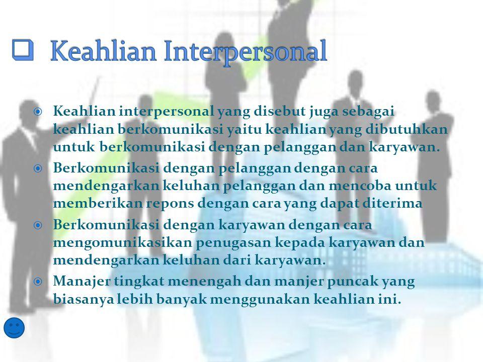 Keahlian Interpersonal