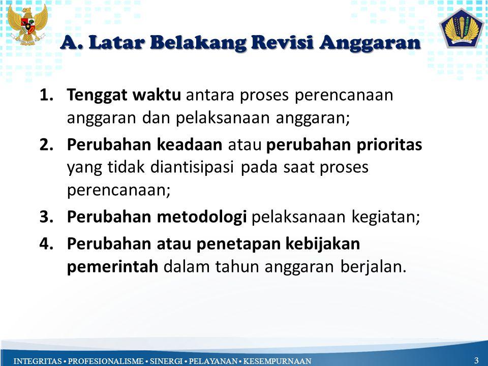 A. Latar Belakang Revisi Anggaran