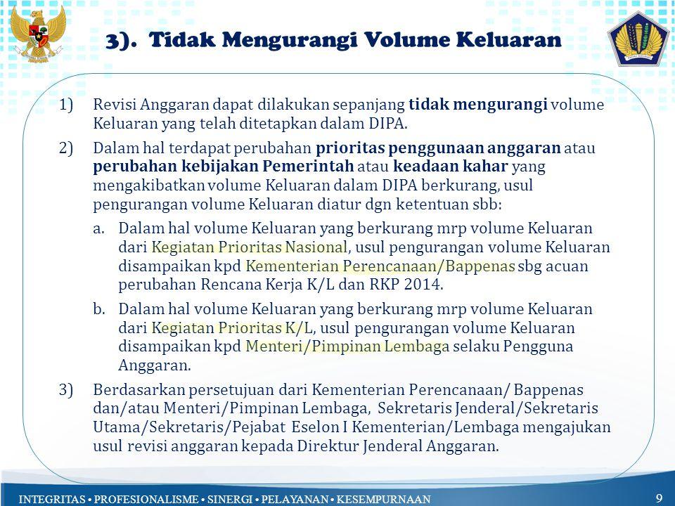 3). Tidak Mengurangi Volume Keluaran