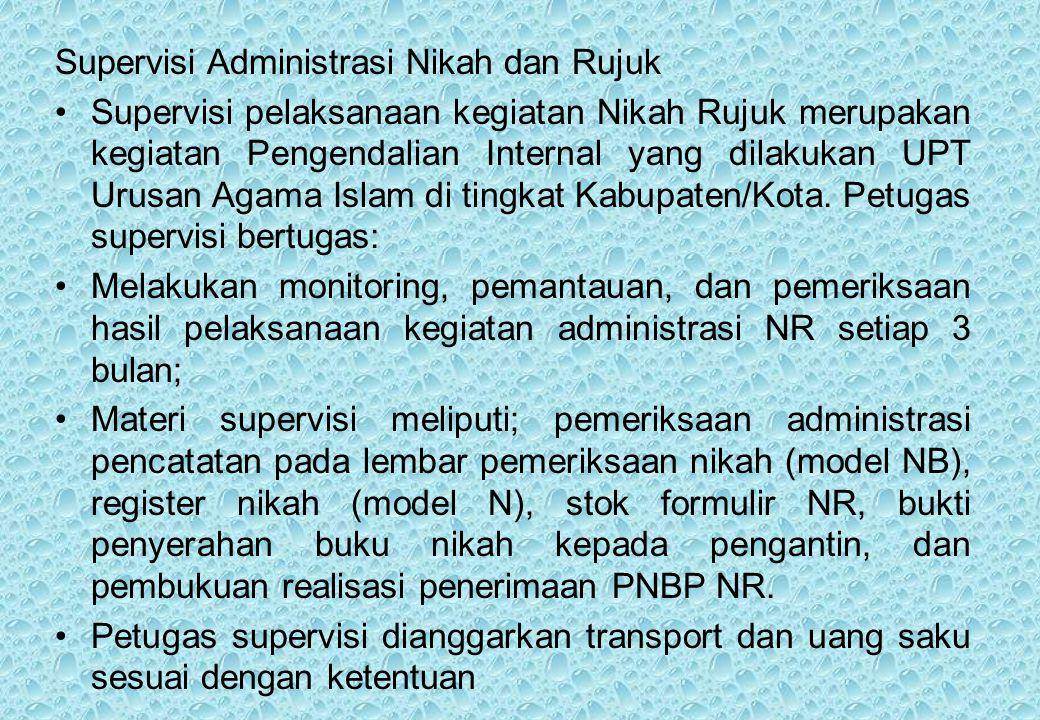 Supervisi Administrasi Nikah dan Rujuk