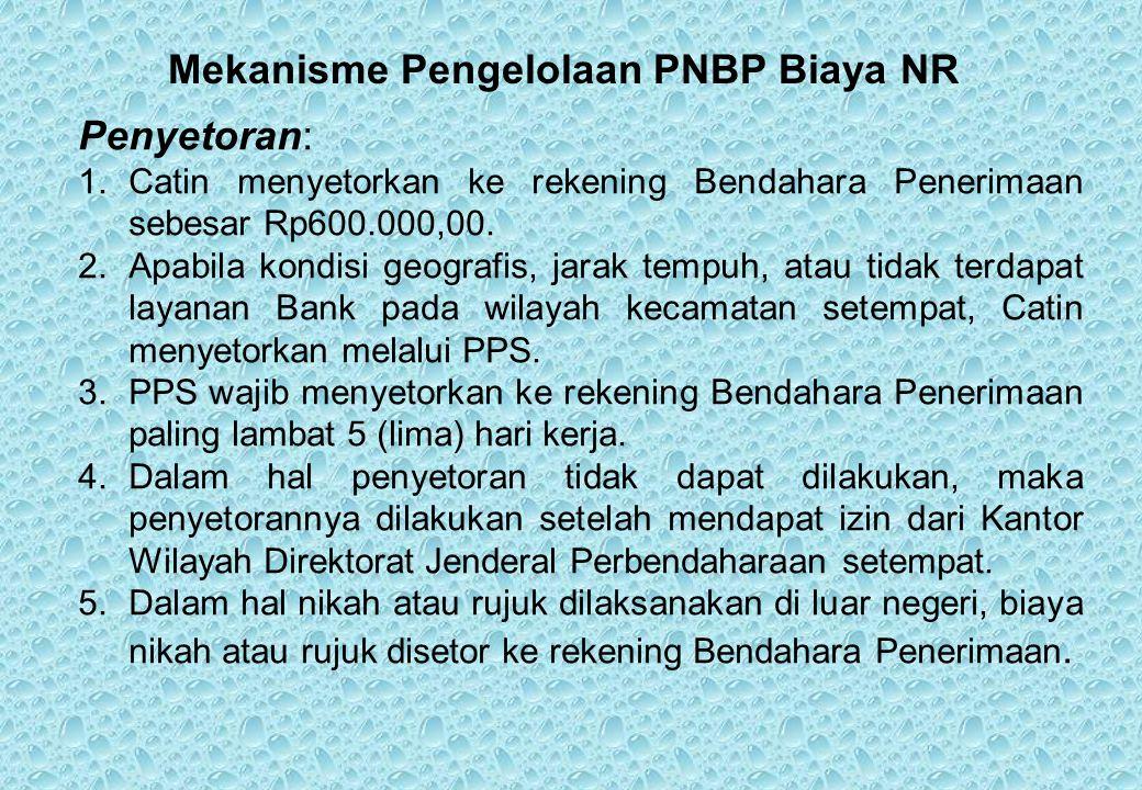Mekanisme Pengelolaan PNBP Biaya NR
