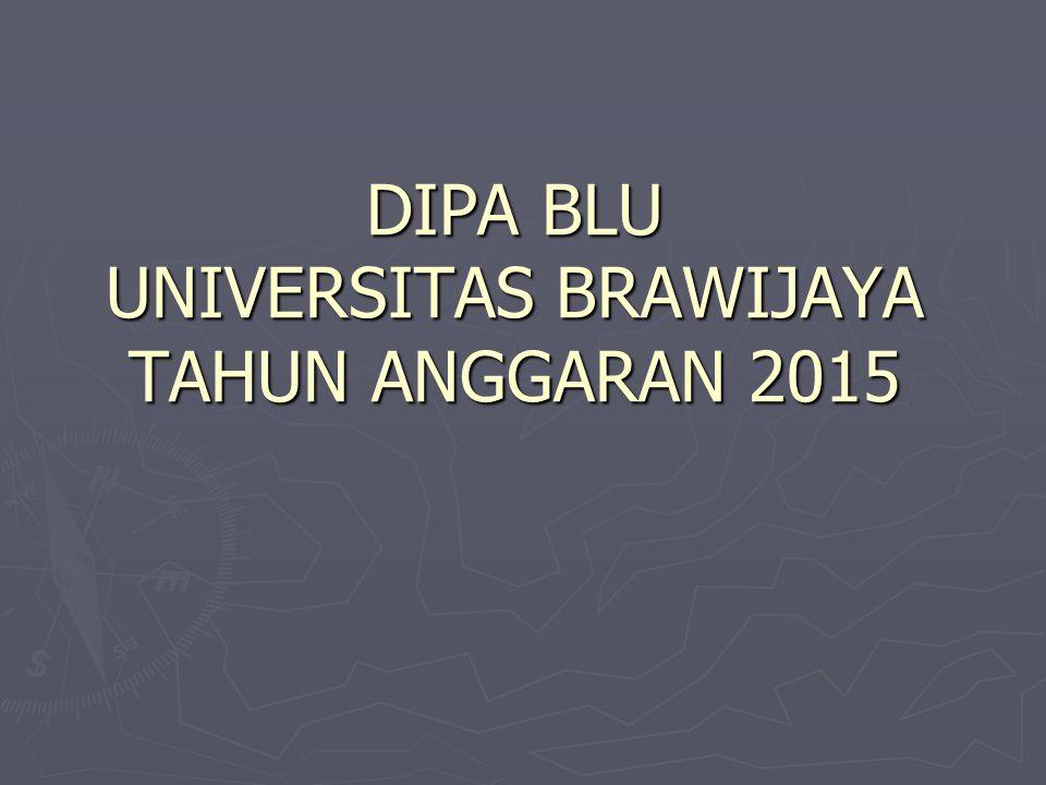 DIPA BLU UNIVERSITAS BRAWIJAYA TAHUN ANGGARAN 2015