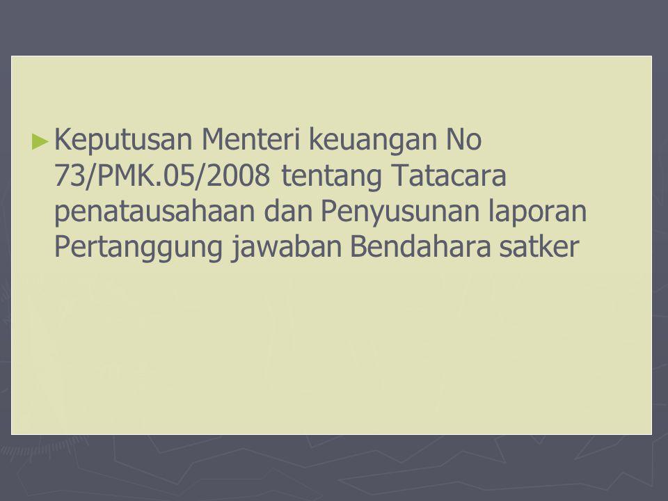 Keputusan Menteri keuangan No 73/PMK