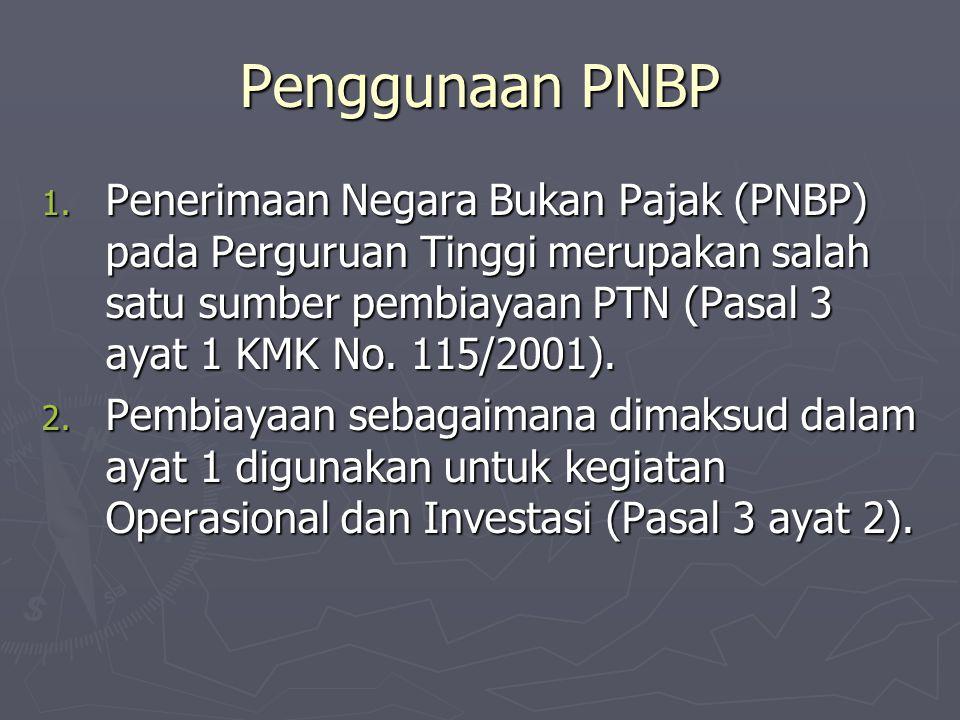 Penggunaan PNBP