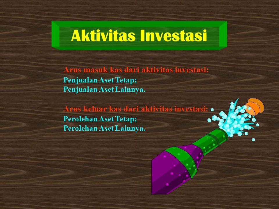 Aktivitas Investasi Arus masuk kas dari aktivitas investasi: