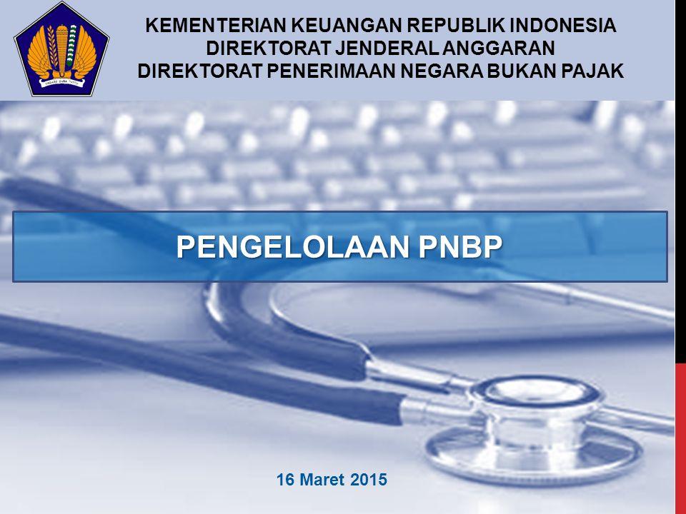 PENGELOLAAN PNBP KEMENTERIAN KEUANGAN REPUBLIK INDONESIA