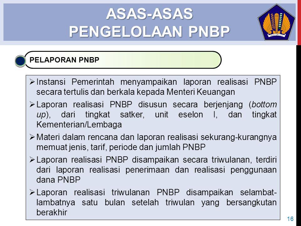 ASAS-ASAS PENGELOLAAN PNBP