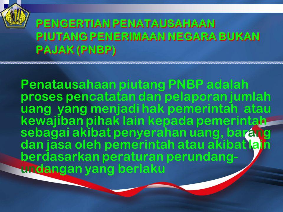 PENGERTIAN PENATAUSAHAAN PIUTANG PENERIMAAN NEGARA BUKAN PAJAK (PNBP)