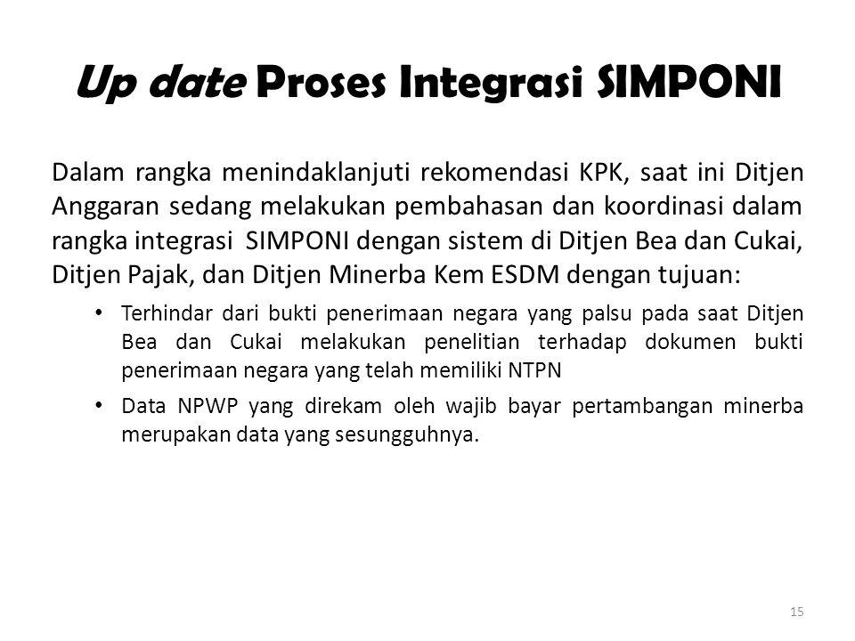 Up date Proses Integrasi SIMPONI