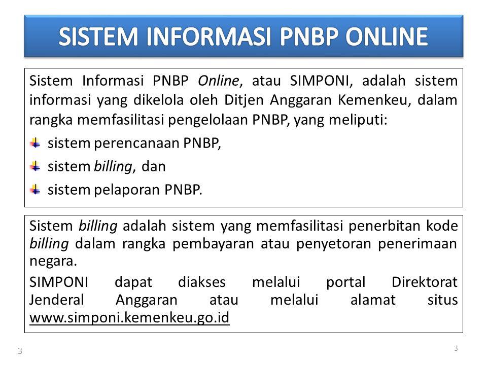 SISTEM INFORMASI PNBP ONLINE