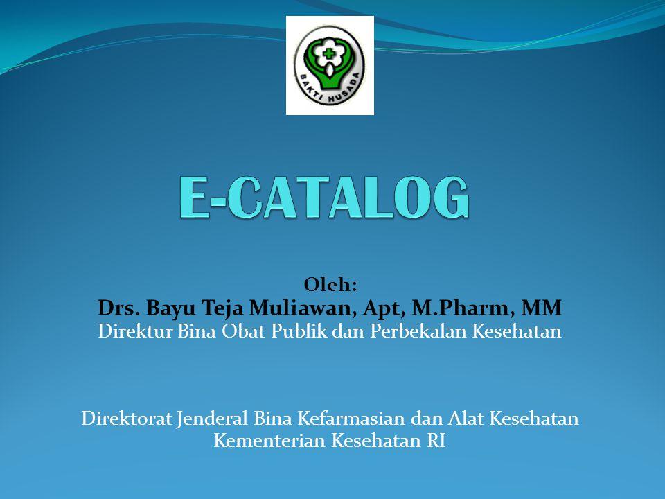 Drs. Bayu Teja Muliawan, Apt, M.Pharm, MM