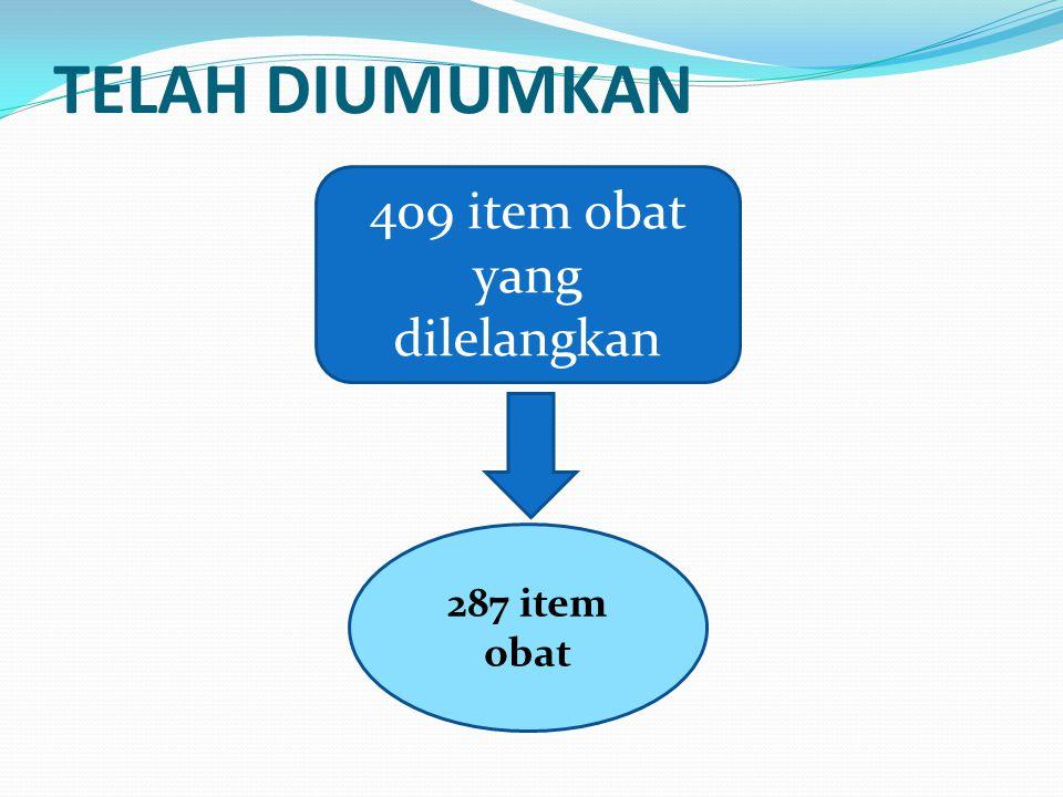 409 item obat yang dilelangkan