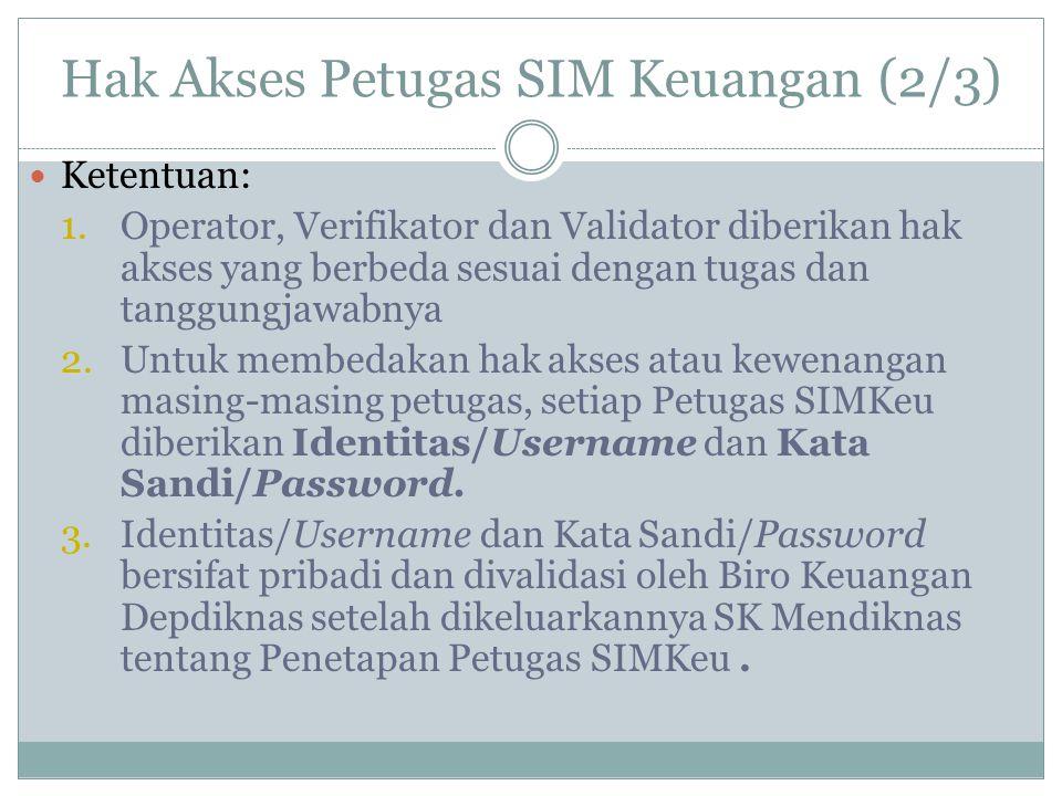 Hak Akses Petugas SIM Keuangan (2/3)