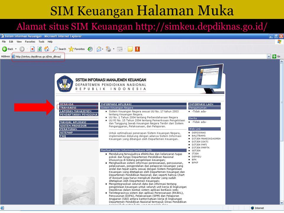 SIM Keuangan Halaman Muka