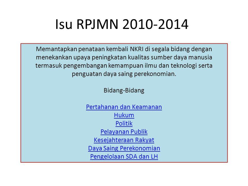 Isu RPJMN 2010-2014